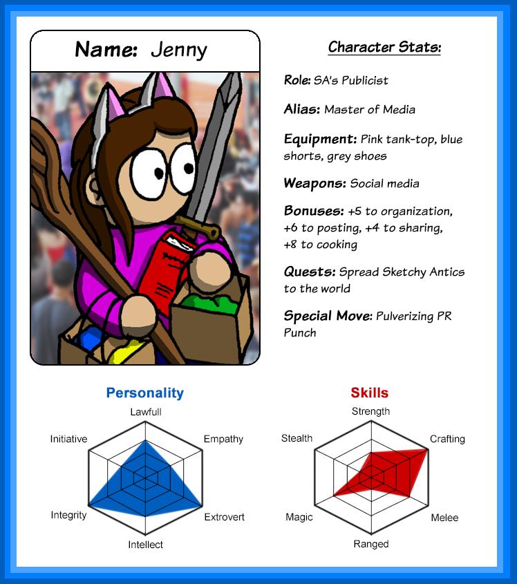 character sheet Jenny